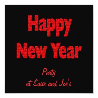 Os felizes anos novos do partido convites personalizados