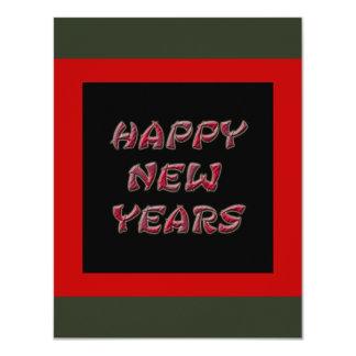 os felizes anos novos vermelhos convites personalizado