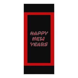 os felizes anos novos vermelhos convite 10.16 x 23.49cm