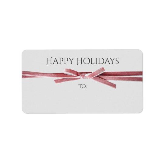 Os feriados endereçam ou o presente etiqueta a etiqueta de endereço