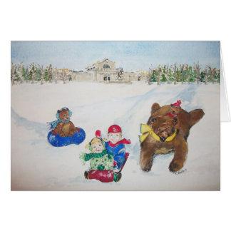Os feriados no cartão de Natal do monte da arte