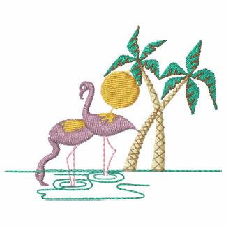 Os flamingos bordaram a camisa