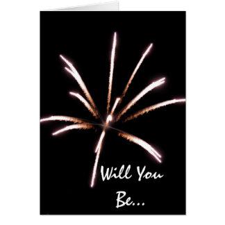Os fogos-de-artifício sejam meu cartão do convite