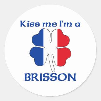Os franceses personalizados beijam-me que eu sou adesivos redondos