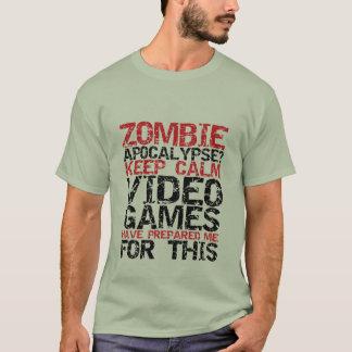 Os Gamers do apocalipse do zombi mantêm camisetas