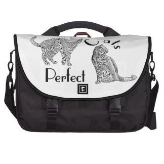 Os gatos aperfeiçoam o design do estilo do desenho pastas para laptop