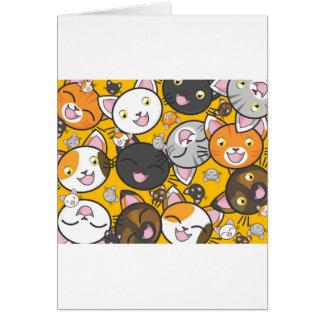 Os gatos de riso cartão comemorativo