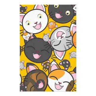 Os gatos de riso papelaria