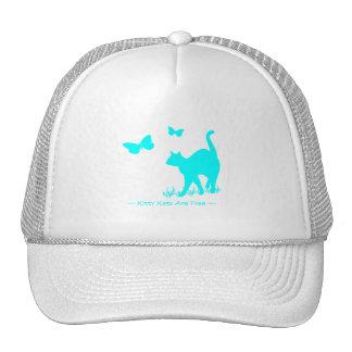 Os gatos do gatinho são Aqua livre Boné