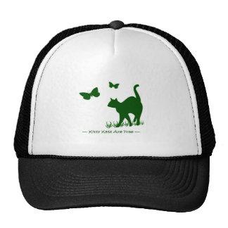 Os gatos do gatinho são verde livre boné