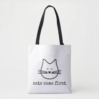 os gatos favoritos vêm o primeiro bolsa