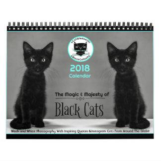 Os gatos pretos dizem todos os calendário 2018