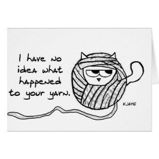 Os gatos roubam o fio - cartão engraçado do gato