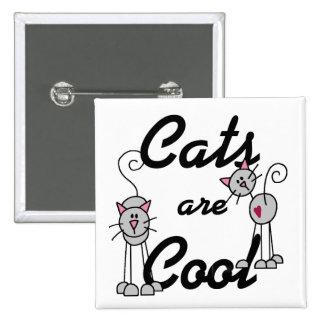Os gatos são botão legal bóton quadrado 5.08cm