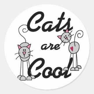 Os gatos são etiqueta legal adesivo