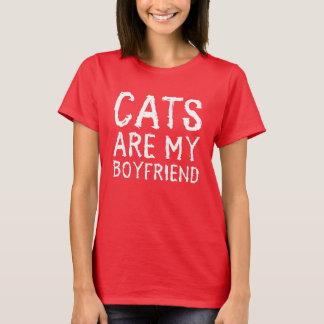 Os gatos são minhas camisetas engraçadas do