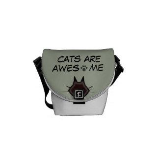 os gatos são saco impressionante bolsas mensageiro