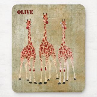 Os girafas da rosa vermelha personalizaram Mousepa