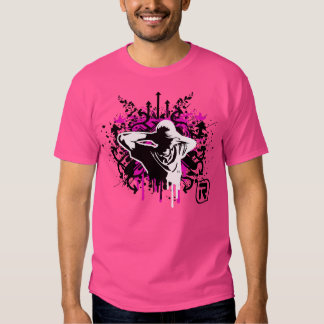 Os grafites relaxam t-shirt