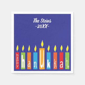 """Os guardanapo de Hanukkah personalizam de """"velas"""