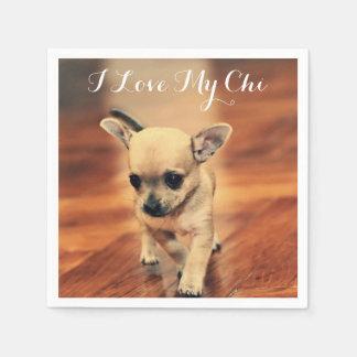 Os guardanapo de papel da chihuahua bonito