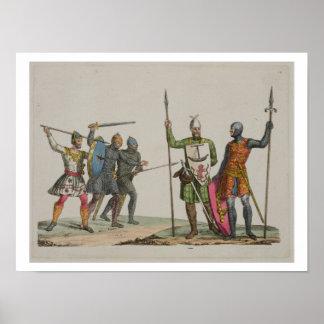 Os guerreiros anglo-saxões, chapeiam 14 'da histór poster
