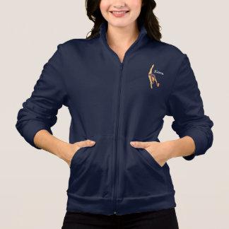 Os Gymnasts rítmicos têm uma jaqueta da trilha da