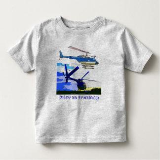os helicópteros pilotam no treinamento camiseta infantil