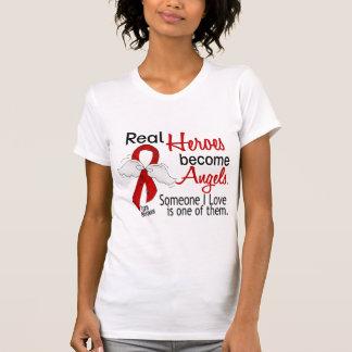 Os heróis reais transformam-se curso dos anjos t-shirt