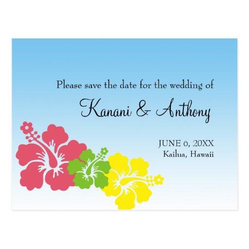 Os hibiscus havaianos florescem economias formais cartão postal