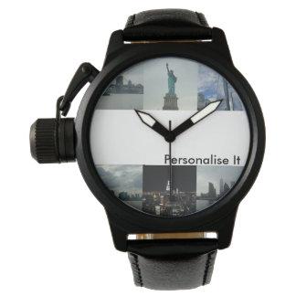 Os homens personalizam-no relógio feito sob