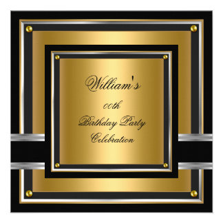 Os homens pretos elegantes da festa de aniversário convites