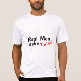 Os homens reais fazem gêmeos tshirt