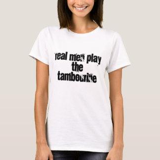 Os homens reais jogam o pandeiro camiseta