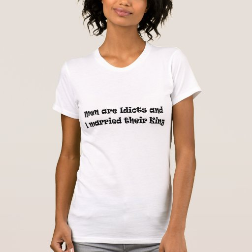 Os homens são t-shirt básico das senhoras dos idio