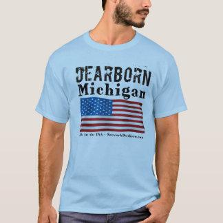 Os homens Short a luva - Dearborn, MI - feita nos Camiseta