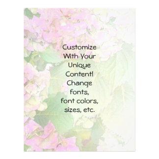 Os Hydrangeas cor-de-rosa empalidecem a mistura Panfletos Personalizados