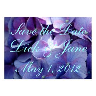 Os Hydrangeas salvar a data Cartão De Visita Grande