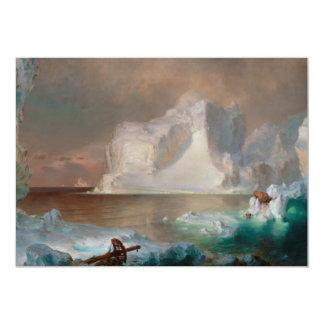 Os iceberg pela igreja 1861 de Frederic Edwin Convite Personalizados