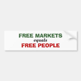 Os iguais dos mercados livres livram pessoas adesivo para carro
