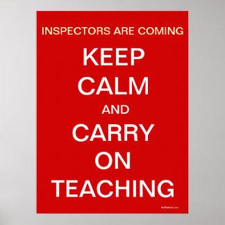 Os inspectores de escola mantêm citações pôster