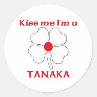 Os japoneses personalizados beijam-me que eu sou adesivo em formato redondo