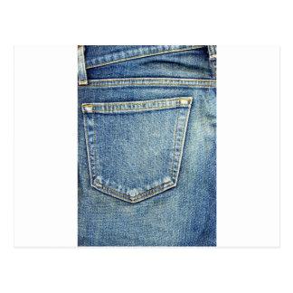 Os jeans da sarja de Nimes Pocket ricos azuis da f Cartões Postais