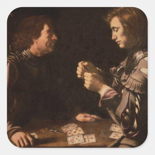 Os jogadores adesivos quadrados