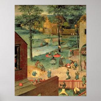 Os jogos das crianças, 1560 poster