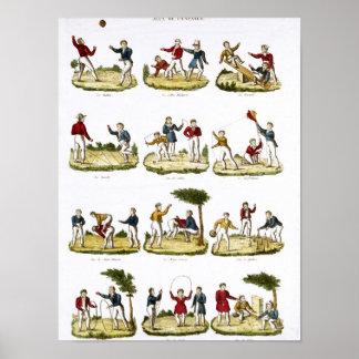 Os jogos das crianças 1810 posteres