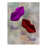 Os lábios salvar a cerimónia do compromisso da dat cartoes postais
