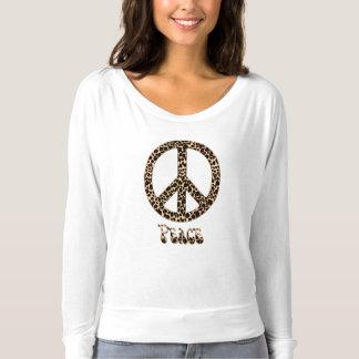 Os leopardos para o leopardo do ~ da paz imprimem camiseta
