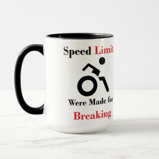 Os limites de velocidade foram feitos quebrando caneca