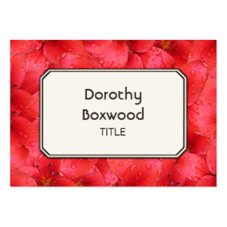 Os lírios vermelhos botânicos personalizados do cartão de visita grande